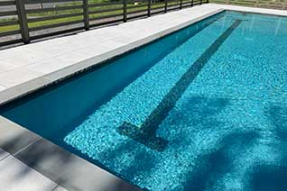 Gunite swimming pool with bluestone coping in Catskill Ny.